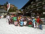 Skivergnügen pur gab es für die Thüringer Mittelschüler in Lech.