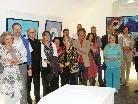 """Zur Vernissage der """"Pigmente""""- Ausstellung waren zahlreiche Besucher gekommen."""