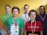 Zusammen ganze 15 Medaillen (!): Janine, Pascal, Chiara, Michael, Anabell (vlnr) vom BSV Hohenems.