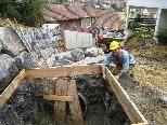 Über eine neue DN 800 Entwässerungsleitung wird das Wasser in den Klausmühlebach abgeleitet.