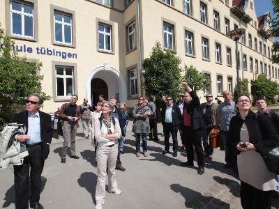 23 Interessierte folgten der Einladung von Vision Rheintal sich über die innovative Stadtentwicklung in Tübingen zu informieren.