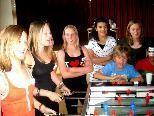 Auch die Girls hatten ihren Spaß beim Tischfußball.