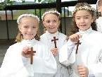 Auch für Julia, Melissa und Alessia wurde die Erstkommunion zu einem unvergesslichen Tag.