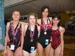 Beachtliche Leistungen der behinderten Schwimmerinnen