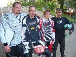 Das BMX-Spitzenquartett  (von links): Mario Noventa (3.), Alfred Hugl (1.), Florian Rapaic (2.) und Helmut Dutcak (4.).