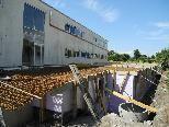 Das Kellergeschoß für die neue Entgiftungsstation in der TS Lukasfeld ist bereits im Bau.
