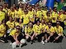 Das begeisterte Laufteam der Raiffeisenbank Bludenz.