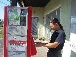 Der Fahrscheinautomat wurde gedreht und das Display ist nun wieder gut lesbar.