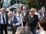Der Obmann des KamB Traismauer bei der Begrüßung in Krems