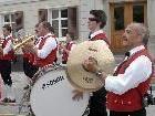 Die Harmoniemusik Schruns war am Tag der Blasmusik acht Stunden im Ortsgebiet von Schruns unterwegs.