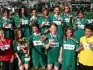 Die Mädchen der VSMS Rankweil-West holten den Postliga-Titel.
