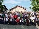 Die fröhlichen Teilnehmer in Sulzberg nach einem schönen Tagesauflug