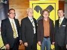 Dir. Gustav Kathrein, Aufsichtsrat-Vorsitzender Siegfried Kern, DI Adi Gross und Dir. Hubert Gieselbrecht.