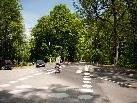 Durch den neuen Übergang ist das Überqueren der Straße sicherer geworden.