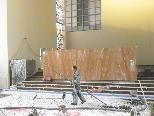 Errichtung der Altarplattform