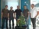 Hatten Grund zum Feiern: v.l. Patrick Kalin, Jürgen Loacker, Projektleiter Christof Marte, Martin Neßler & Architekt Wolfgang Reitbrugger