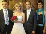 In der Villa Falkenhorst tauschten Judith Zudrell und Peter Mugg die Ringe