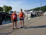 Josef Bickel und Ralf Schroeder vom Berglauf Team Sparkasse Bludenz beim Bregenzer Seelauf