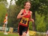 Leon Pauger gewinnt den VLV-Meistertitel in der U 14 Klasse über 2000 m auf der Bahn.