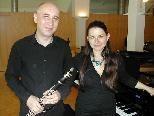 Levent und Darina Ivov beim Lehrerkonzert in der Musikschule Rankweil