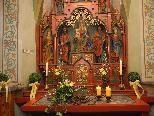 Maiandacht in der Heilig Kreuz Kapelle.