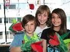 """Marko, Michelle und Albana werden am Samstag ihre """"Rock-Dino-Show"""" präsentieren."""