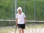 """""""Oldie but Goldie"""" Luggi Metzler gewann wie Dion Barelds Einzel und Doppel."""
