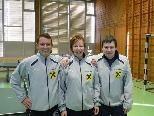 Stefan Bozic, Daniela Strauss und Matthias Wautsche holten den Meistertitel.