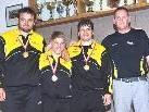 Thomas Kröss, Stefan Hartmann, Bernd Ritter und Obmann Norbert Rist
