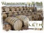 Weinverkostung Leth