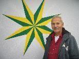 """Auch das Logo des Gasthaus Stern wurde von Josef """"Rolf"""" Glantschnig gemalt."""