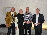 Chefarzt Dr. Thomas Spiegel, ehemaliger Abt Kassian Lauterer, Vortragender Dr. Kurt Sandholzer, Obmann Univ. Prof. Dr. Egon Humpeler