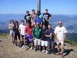 """Das Team, beim Gipfelkreuz auf der """"Hohen Kugel"""""""