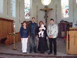 David Zudrell erhielt das Sakrament der Taufe.