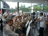 """Die """"Big Band"""" des MV Gisingen sorgte für musikalische Unterhaltung."""