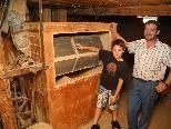Die Siebanlage der unteren Mühle von Meiningen mit Gerold Kühne und Sohn Sandro