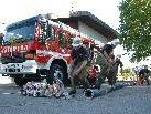 Feuerwehr Zwischenwasser Wettkampfgruppe in Aktion