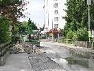 In der Kirchstraße wurden Leitungsarbeiten durchgeführt.