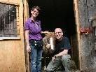 Margit und Adrian Juriatti kauften dem Schlachter das Shetlandpony ab.