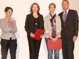NR-Präs. Barbara Prammer und Vize-Bgm. Günter Linder mit Eleonora Hummel und Sandra Gugić.