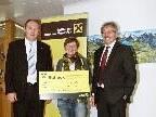 Raiffeisen Bank im Montafon spendete für Menschen mit Behinderung.