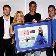 Shakira dürfte sich über Gold und Platin in Österreich freuen.