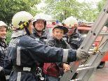 Tobias wurde von den Feuerwehrmännern gerettet.