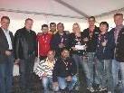 Turniersieger KF International mit AK-Prominenz.