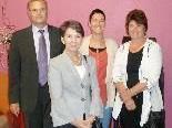 Vize-Bgm. Günter Linder, Hilal Iscakar-Kati und StR. Edith Mathis mit NR-Präs. Barbara Prammer.