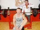 Werner Rampler mit Trainer Ludwig Ruault.