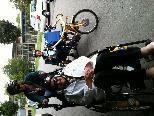 Bewohner des Sozialzentrum Weidach: ready to go! mit dem Seniorenfahrrad