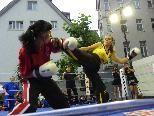 Daniela Klopfer vom Black Dragon Bregenz beim Kampf um den EM Titel