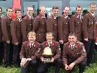 Holte bereits zum dritten Mal den Goldenen Helm:  die Wettkampfgruppe der Ortsfeuerwehr.