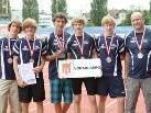 Team der SMS Bregenz Vorkloster: Marcel Likosar, Adrian Bleyer, Lukas Kurz, Marco Schwarz, Dominik Steiner, Heinz Dünser. Walter Zaponig